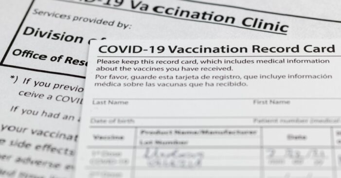 CONSUMER ALERT: Attorney General James Issues Consumer Alert to Protect New Yorkers From Dangerous, Fake COVID-19 Vaccination Cards